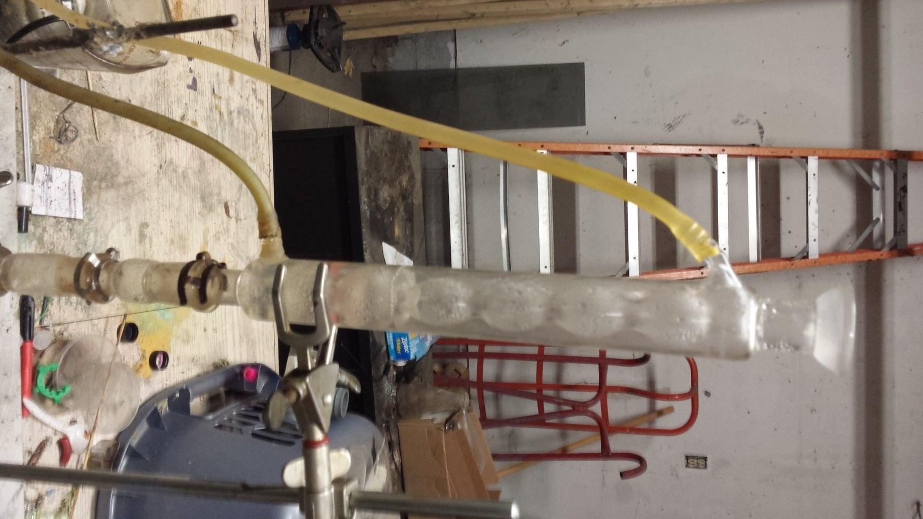Distillation of Potassium Sulfide and Antimony Sulfide Complex.