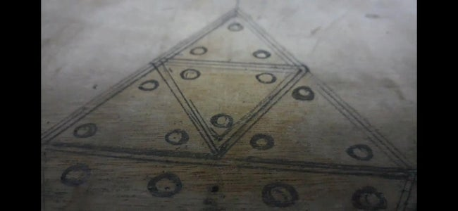 CUTTING THE WOOD AND DRAWING THE TRIANGLE
