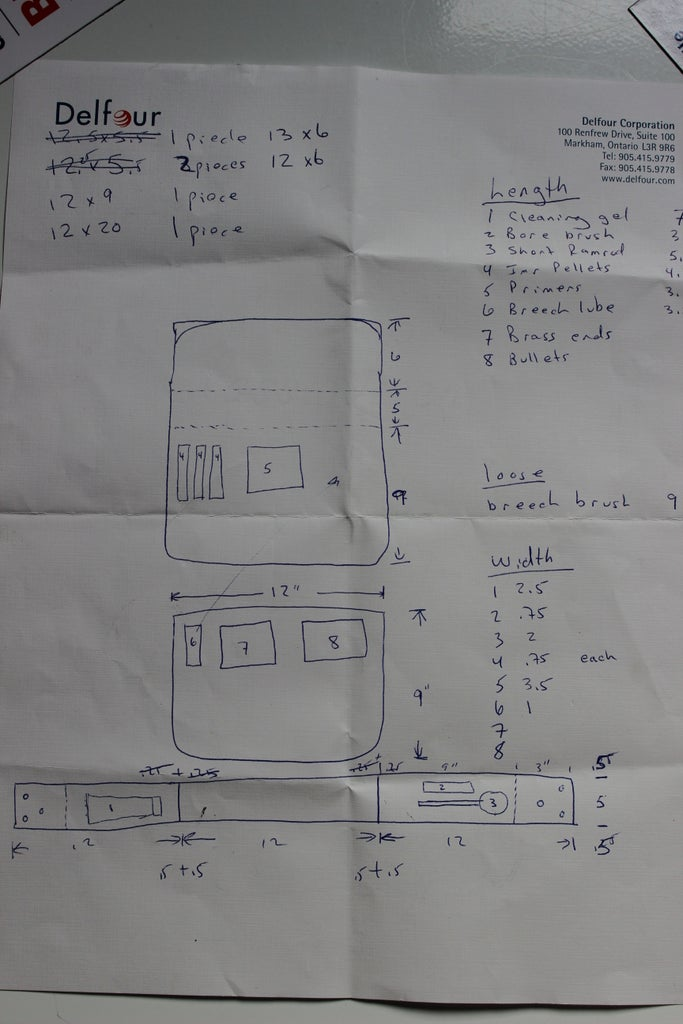 Create Plan for Bag