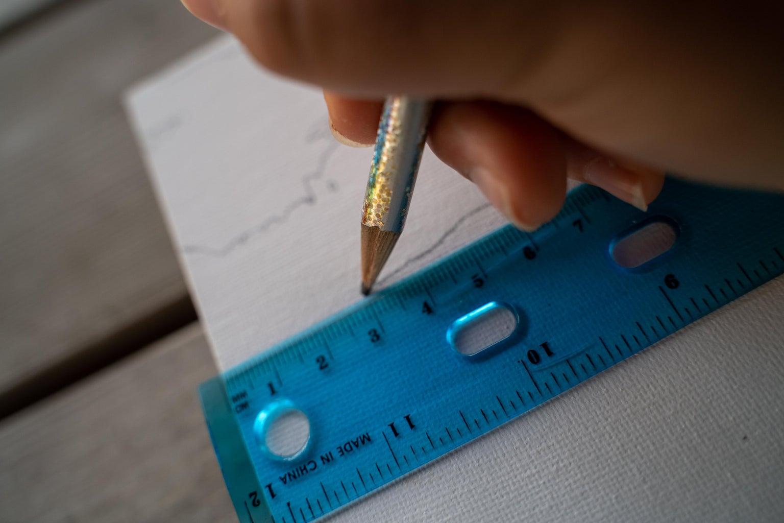 Begin Drawing – Method #1 (Ruler)