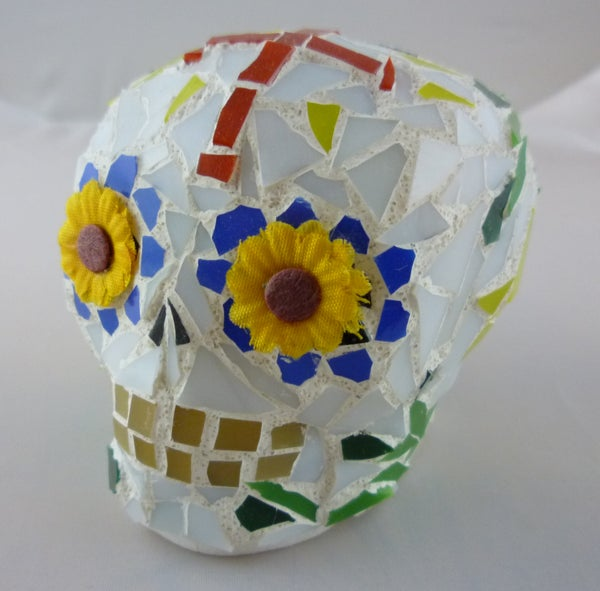 "Stained Glass Mosaic ""Sugar"" Skulls"