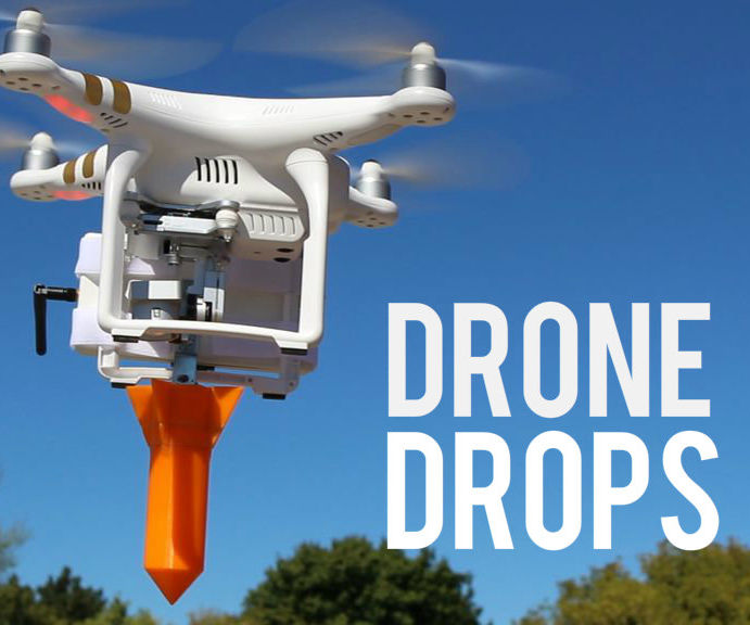 Long Range Dropping System for Drones With Arduino and HC-12
