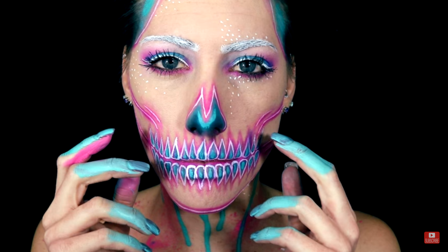 Neon Skull Body Paint