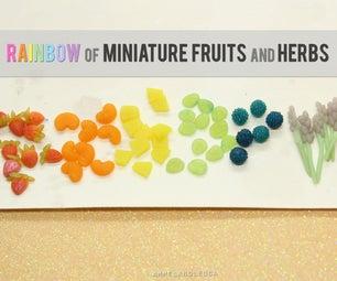 轻松微型粘土水果和草药 - 彩虹