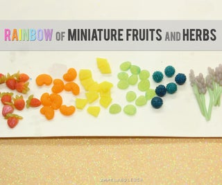 Easy Miniature Clay Fruit and Herbs - Rainbow
