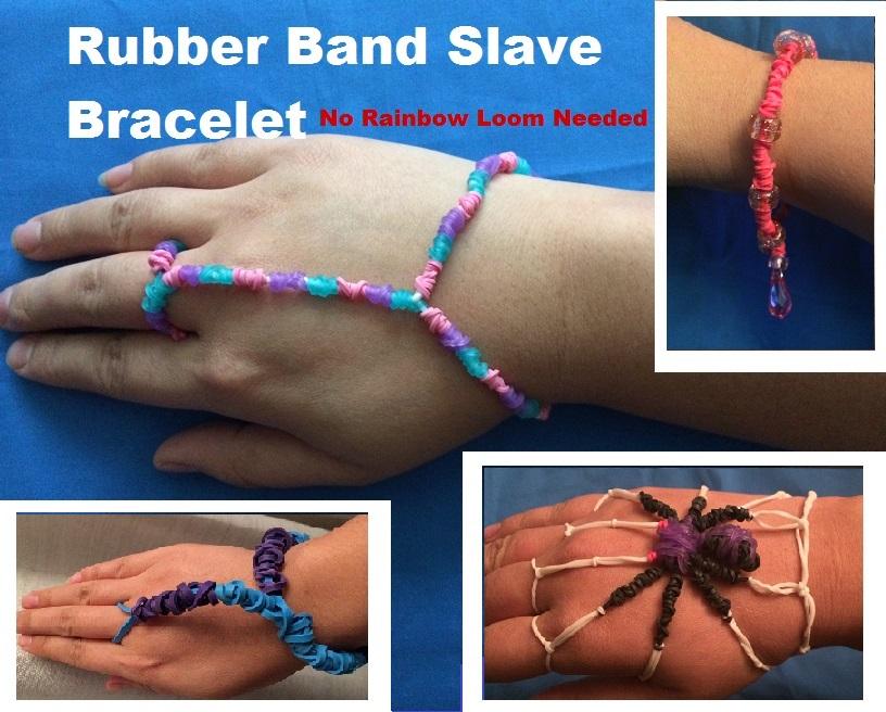 Rubber Band Slave Bracelet (No Rainbow Loom Needed)