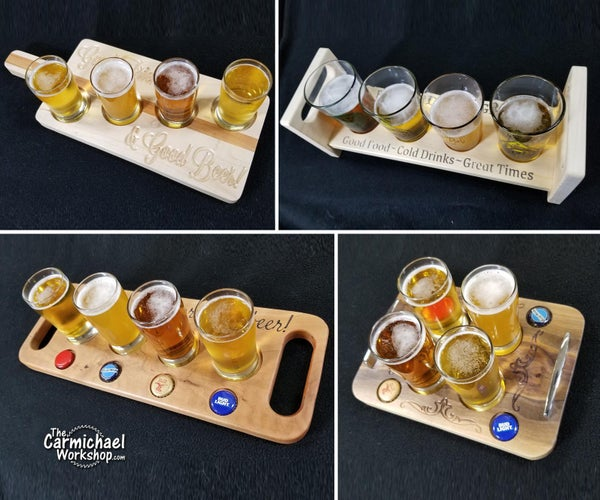 Beer Flight Glass Carriers for Father's Day