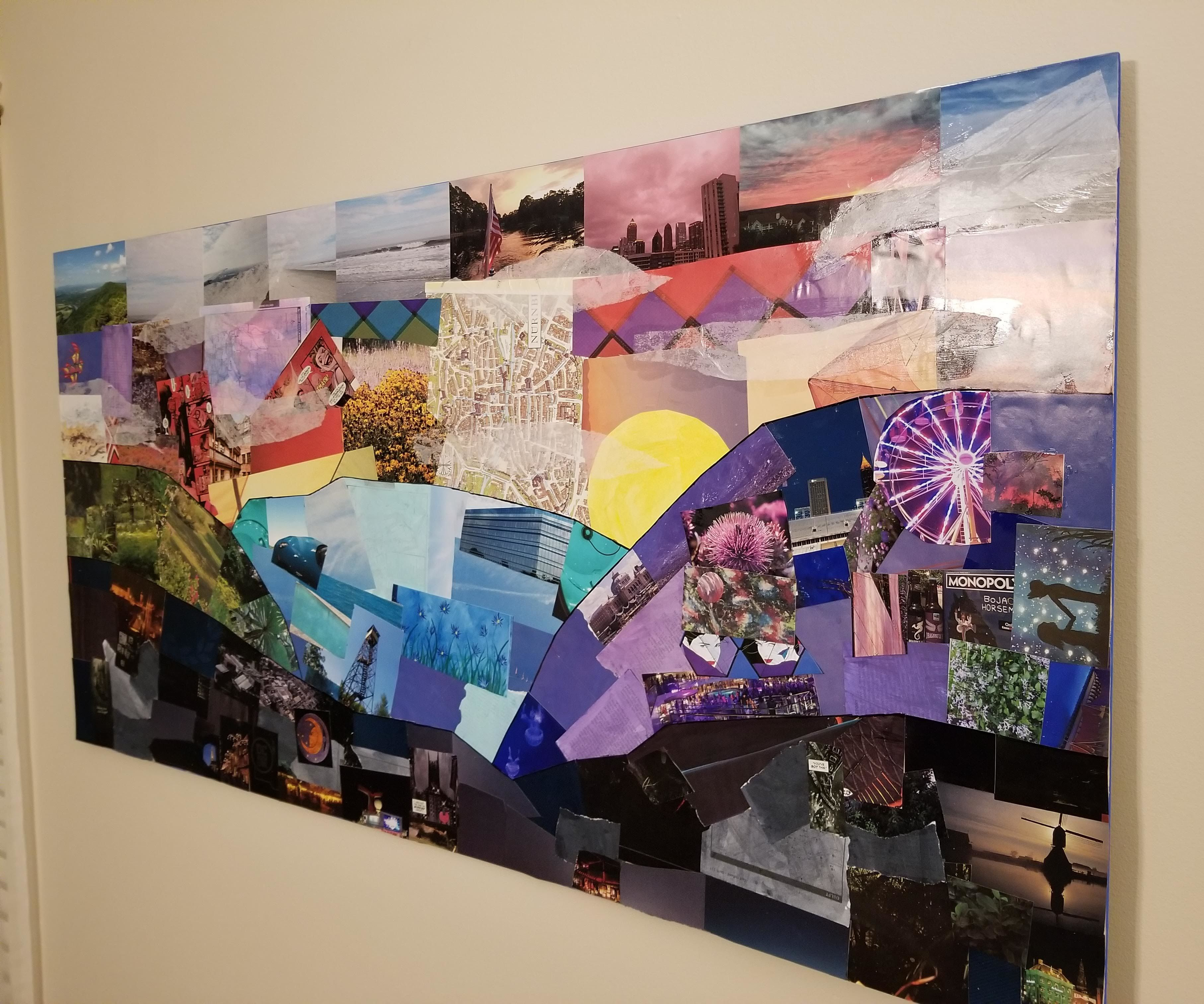 Large Scrap Paper Collage for Beginners