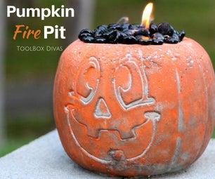 DIY Concrete Halloween Pumpkin Fire Pit