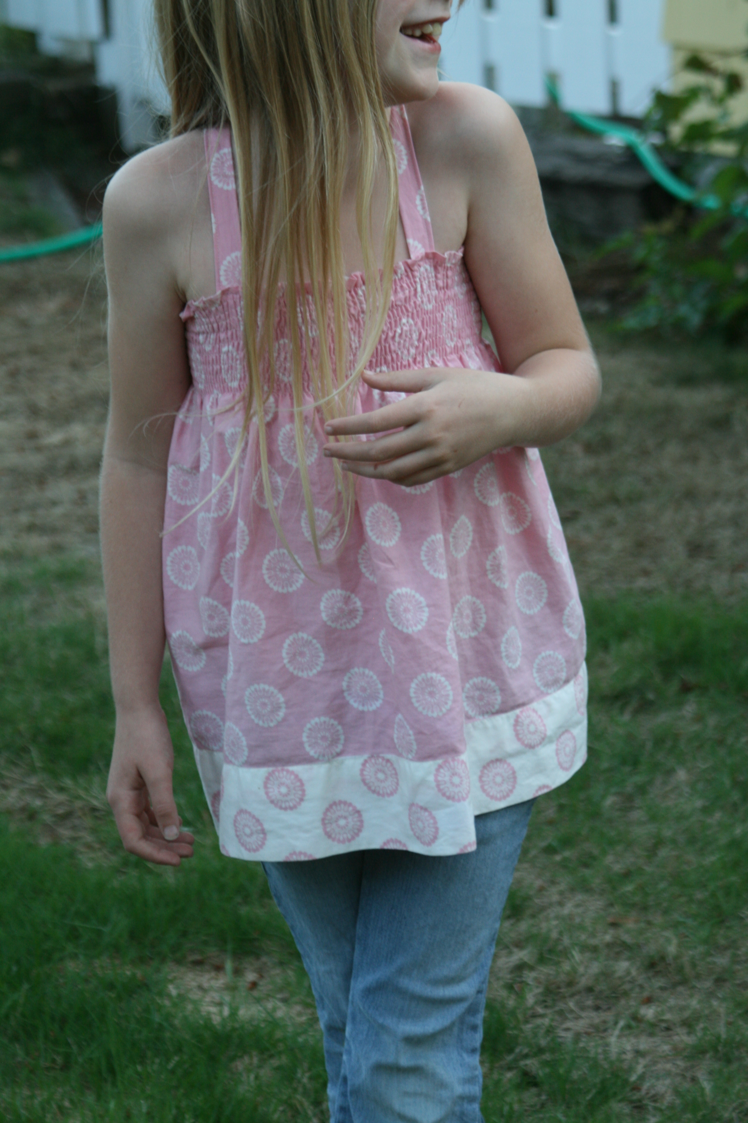 Shirred/Smocked Pillowcase Top from Valerie