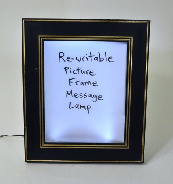 Light-Up Dry Erase Message Board