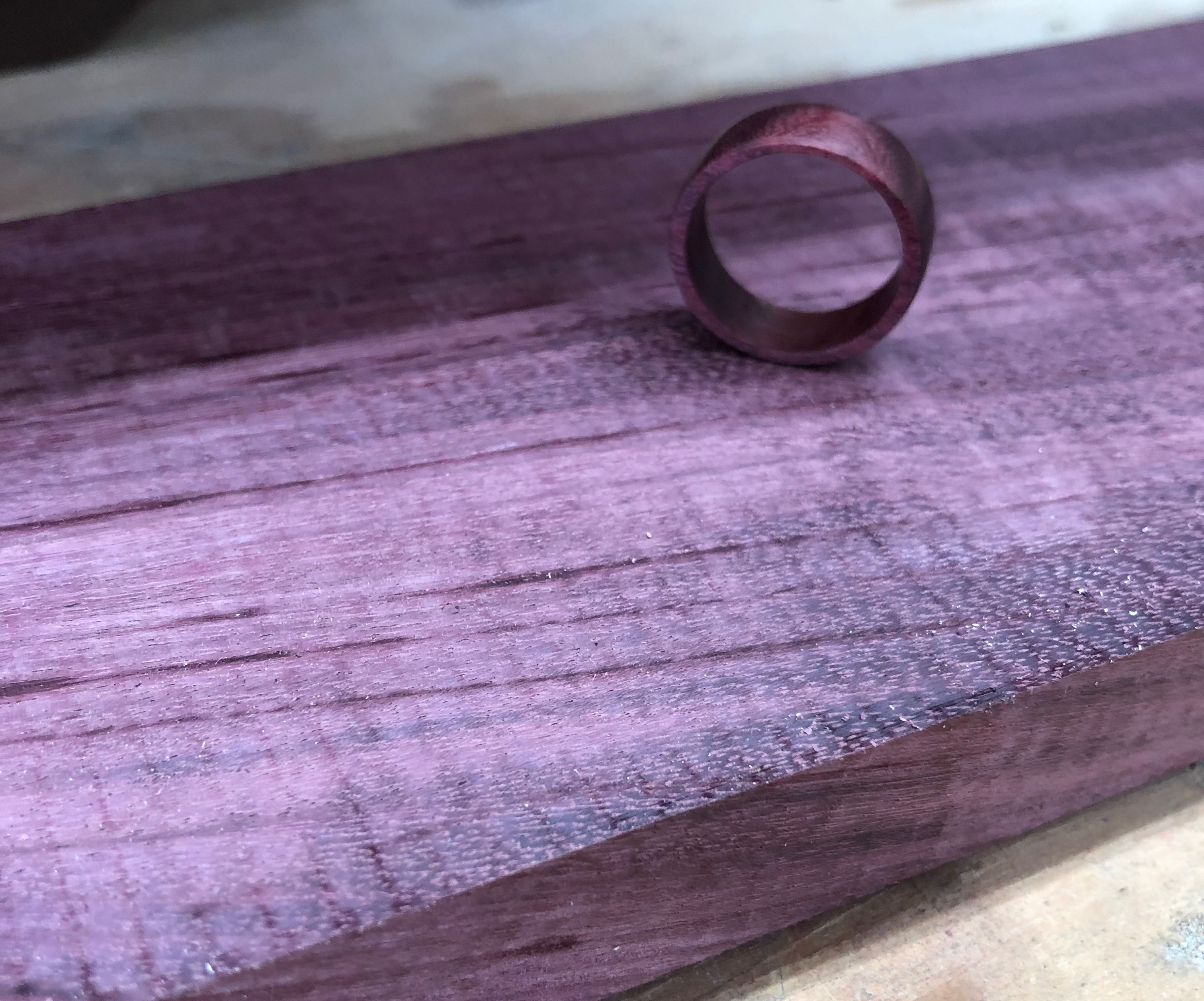 Purple Heart Wood Ring