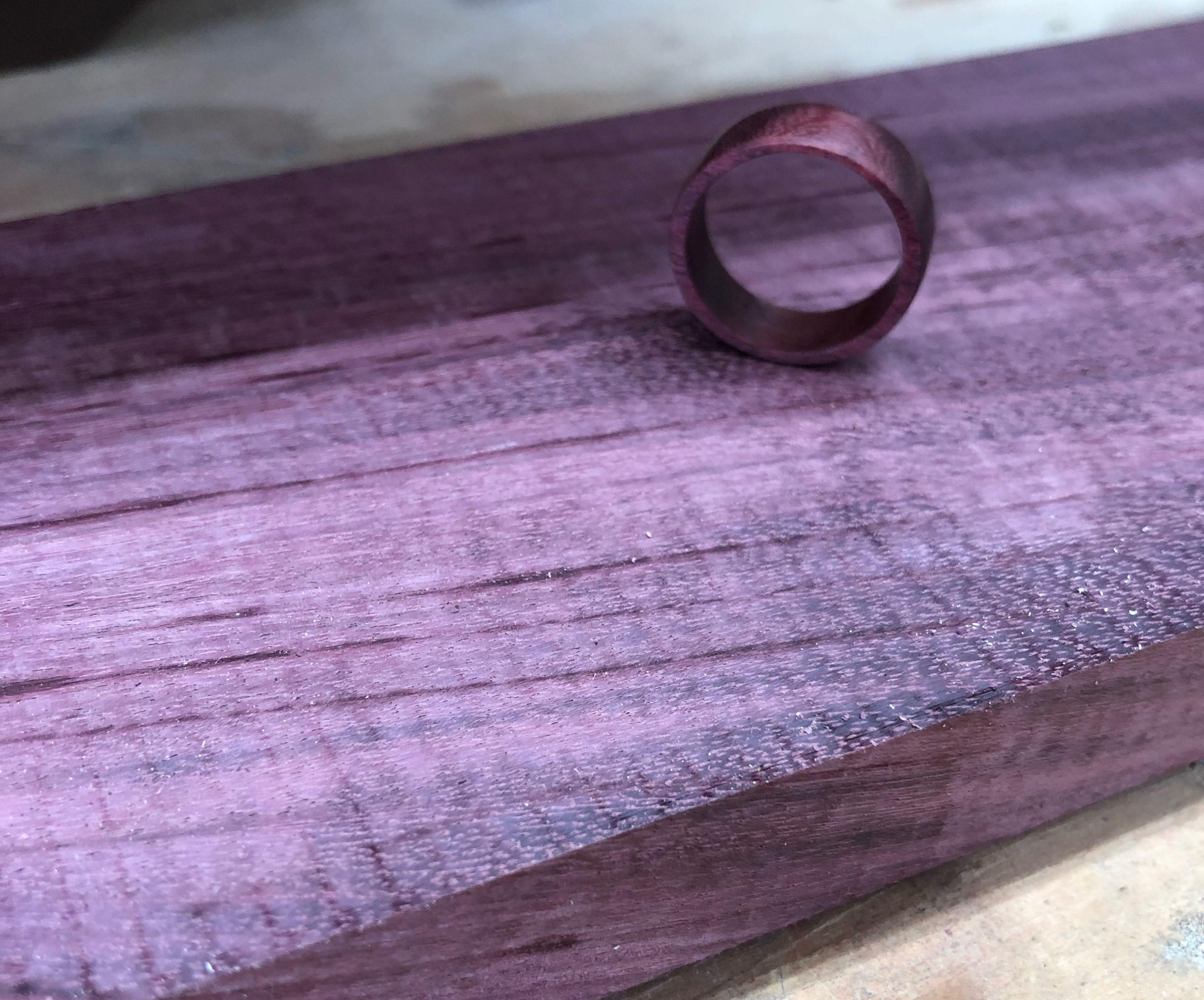 Purple Heart Wood Ring