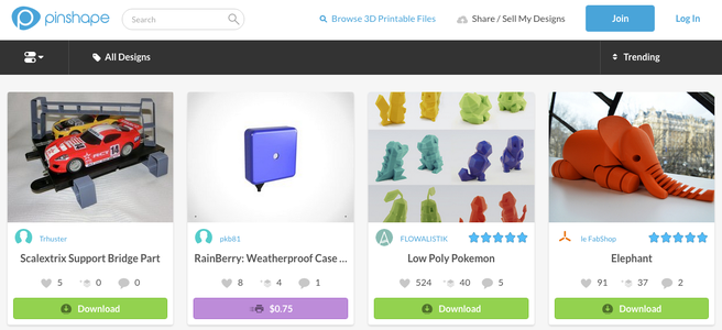 3D Print From Pinshape.com