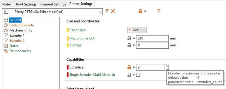 Slic3r Preparation (Printer Settings)