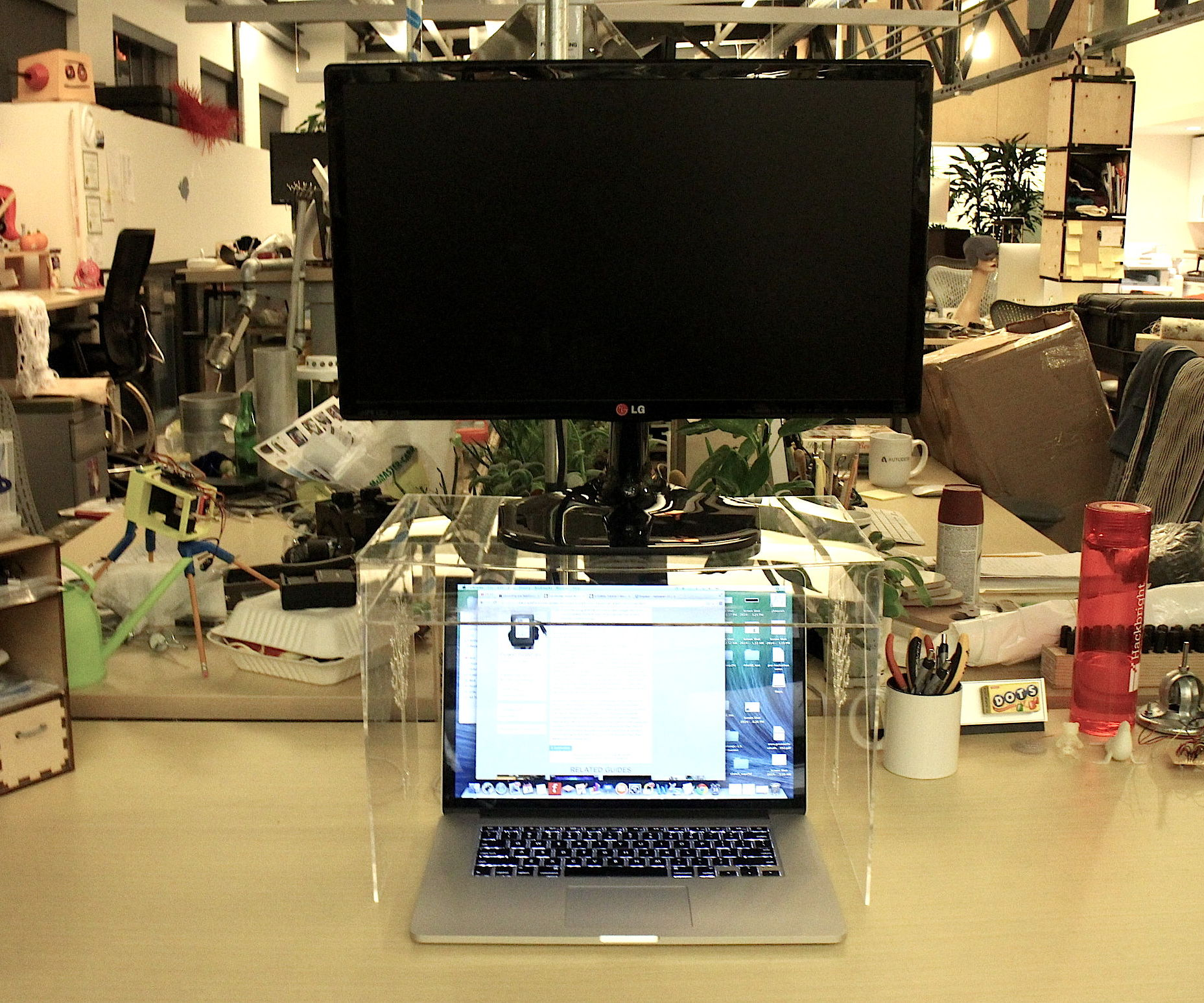 Space-Saving Monitor Stand