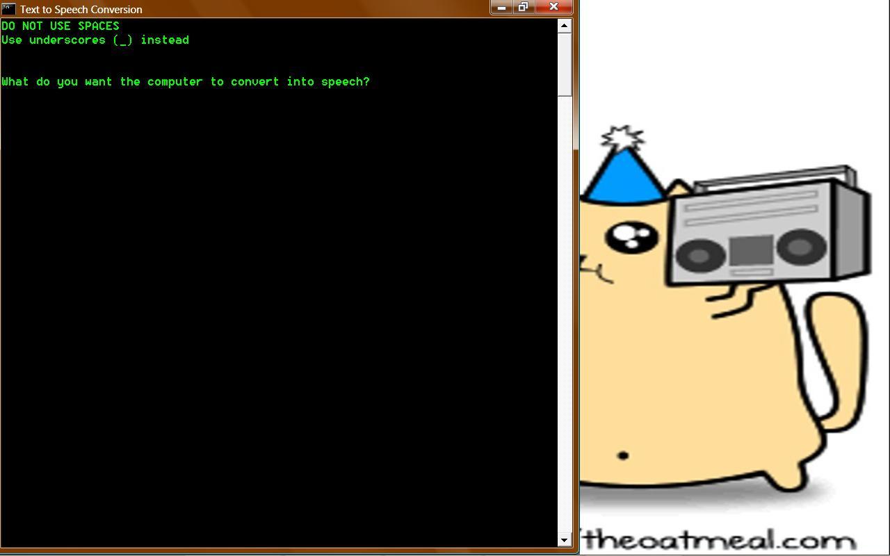 Text to Speech batch program