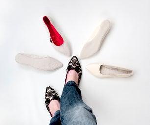 Ballerina Indoor Shoe Sewing Pattern