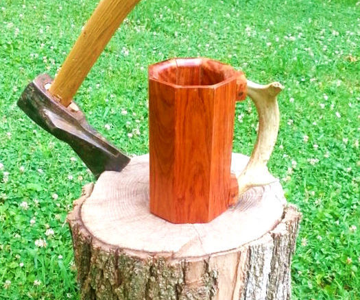 How to Make a Mug out of Scrap Hard Wood Flooring with Wood Burned Bottom