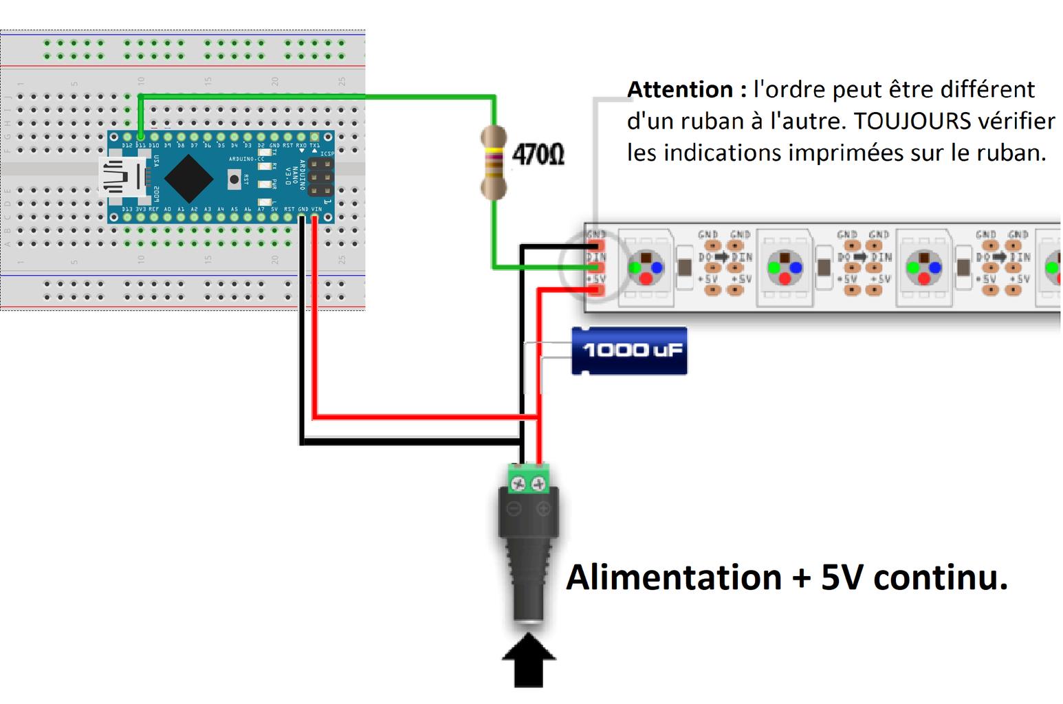 CHOIX 1 : Carte Arduino Téléverser Le Programme Dans L'arduino / CHOICE 1: Arduino Card Upload the Program Into the Arduino