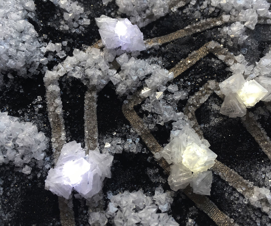 Growing Crystals on LEDs and ETextiles