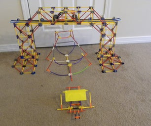 Knex Truss Bridge With Car and Boat