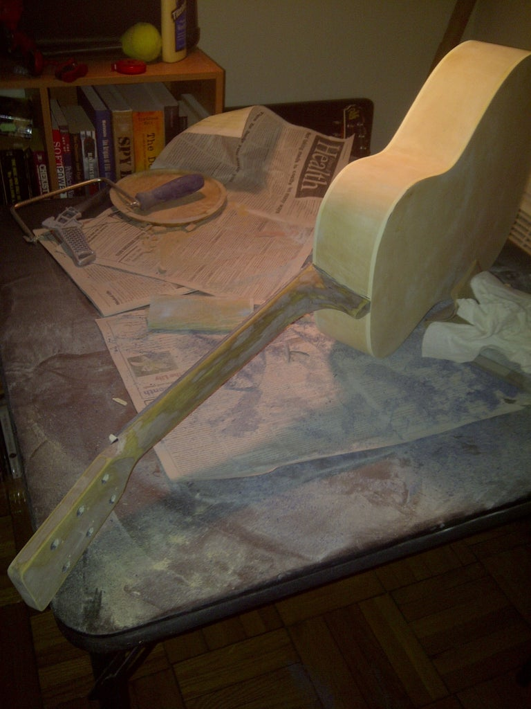 Wood Puttying and Sanding Smooth