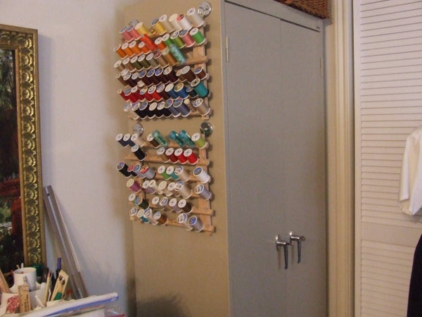 Convert Sewing Thread Stand (Holder) to Hanging Thread Holder