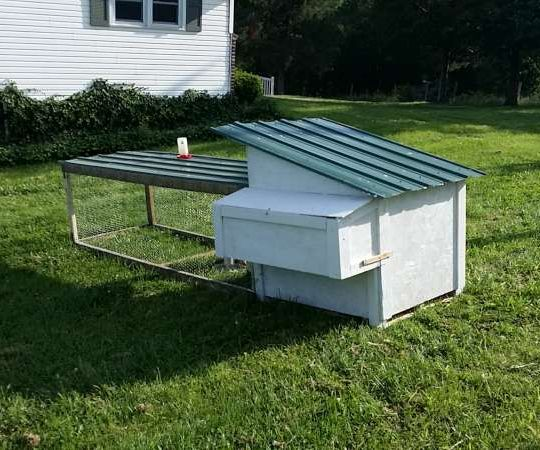 Reclaimed, Reused, Recycled Hen Habitat and Coop.