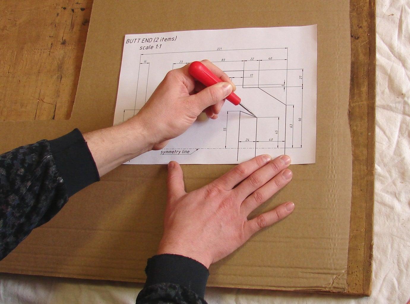 Transferring Drawings to a Cardboard