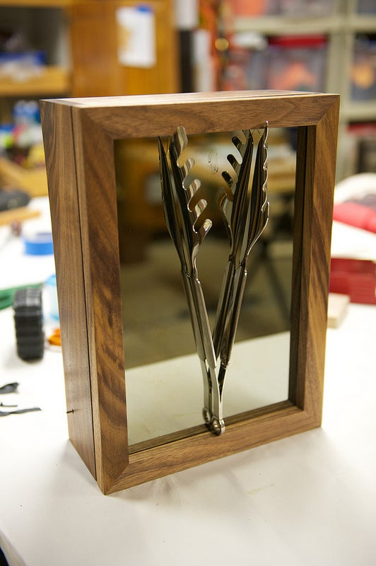 Light-Activated Display Cabinet