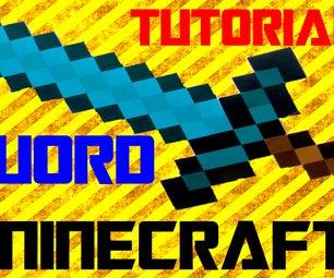 DIY   How to Make MINECRAFT Diamond Sword!