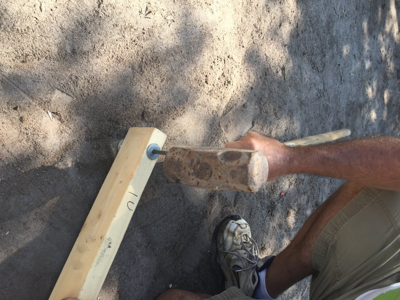 Setting the Stake and Leveling Arm
