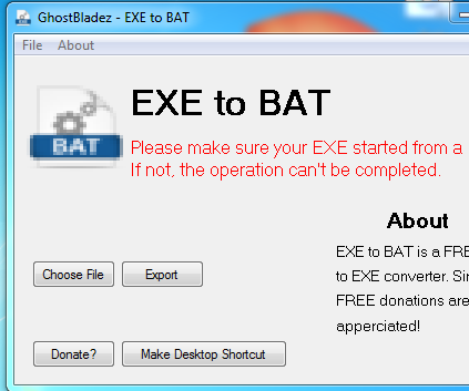 EXE Back to a BAT