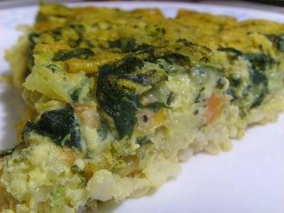 Vegan Spinach Quiche With Brown Basmati Crust