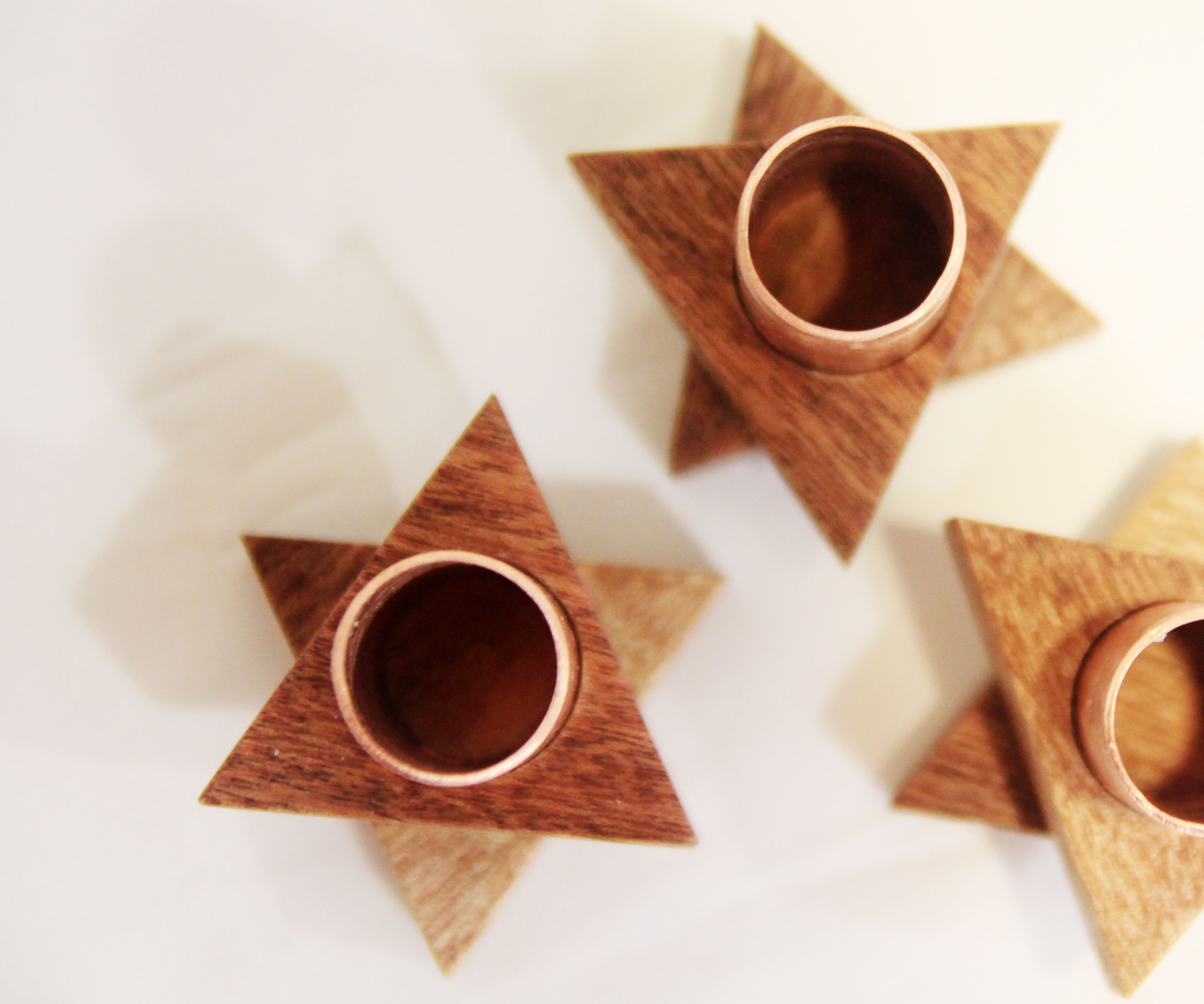 DIY Candle Holder with Wood & Copper Piping
