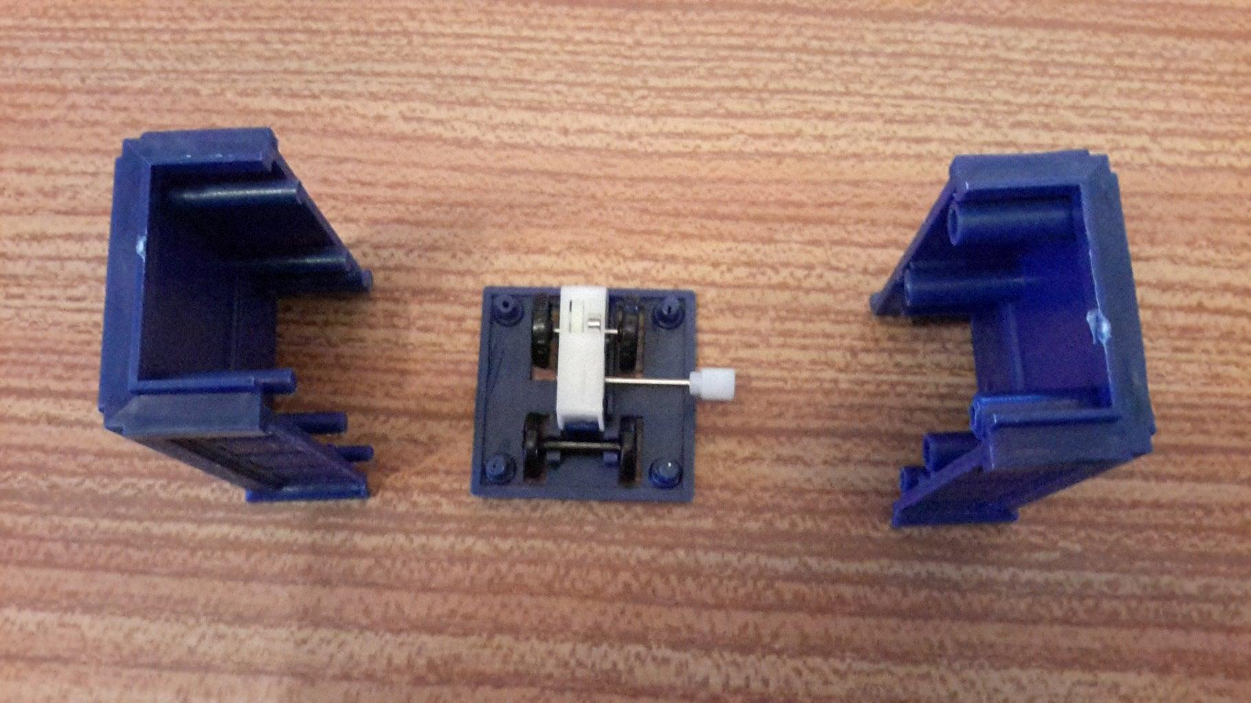 Step 3 Slide Tardis Bottom on to Tardis Sides
