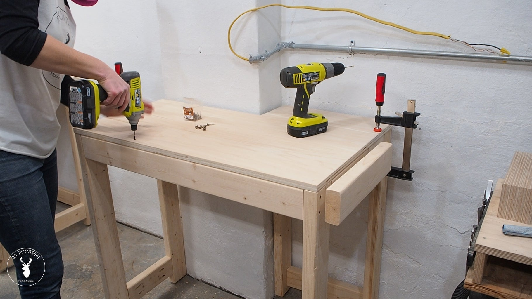 Attach Plywood Tops