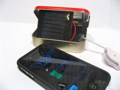 Solar Altoids IPhone/ IPod Charger