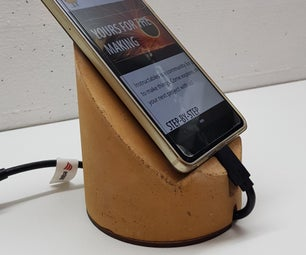 Concrete Phone Stands, 3D-Printed Mold