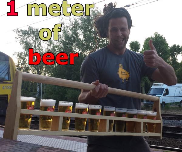 One Meter of Beer