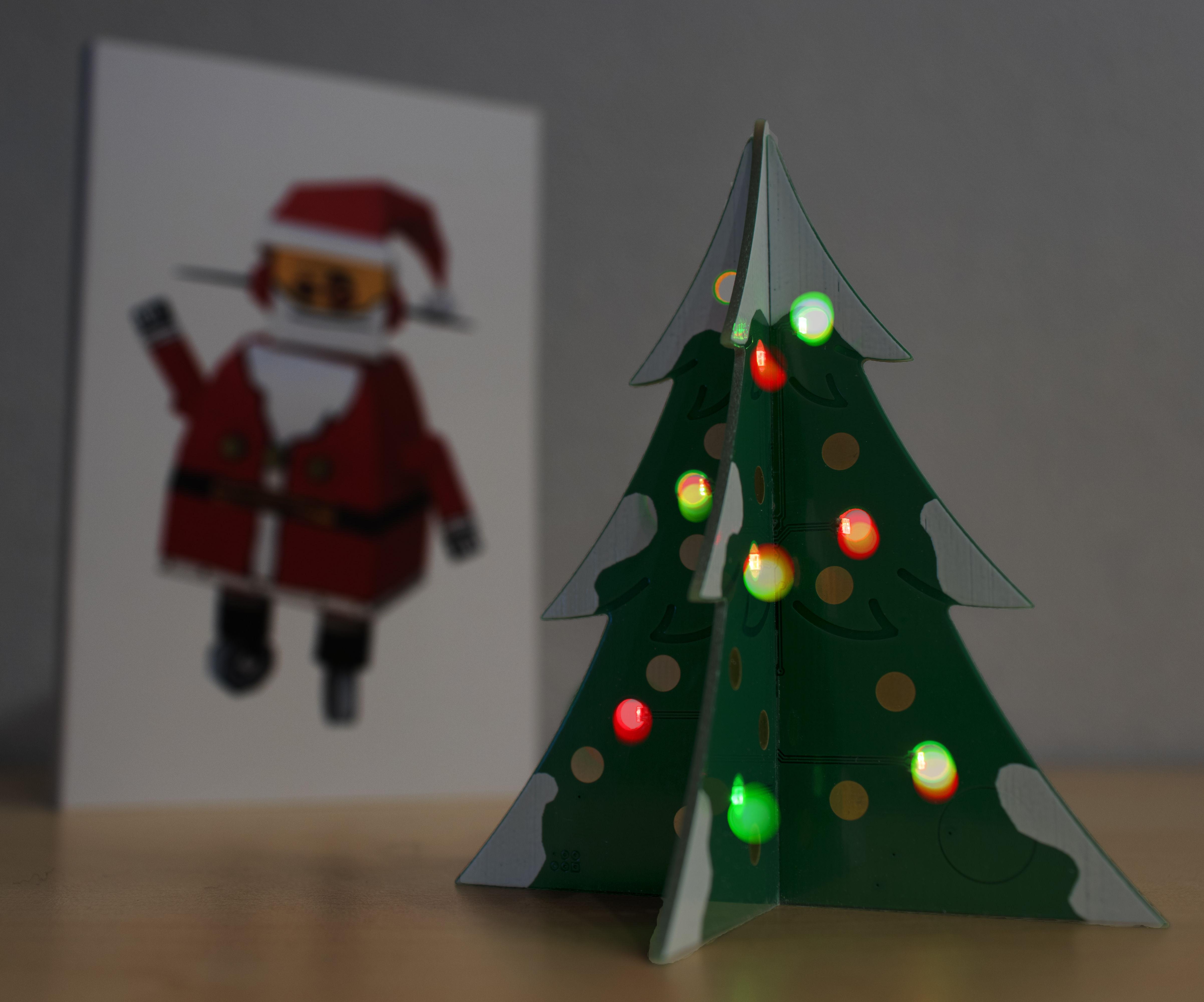 PCB Christmas Tree Card