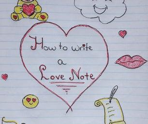 如何写一个爱情票据