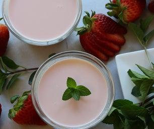 如何制作草莓Panna Clasta