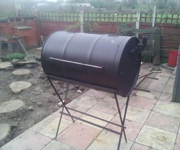 Drum BBQ Smoker, No Welding