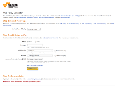 Generate an AWS Policy (Part 1)