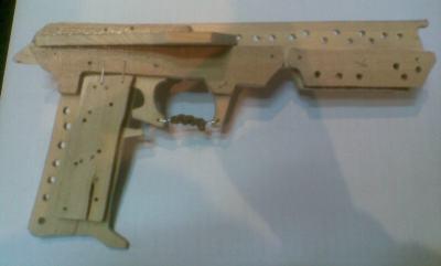 Wooden Rubber Band Gun : Jackal