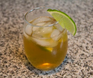 Easy Gold and Stormy Cocktail