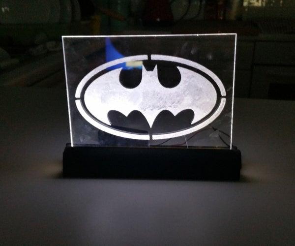 Batman Engraved Logo