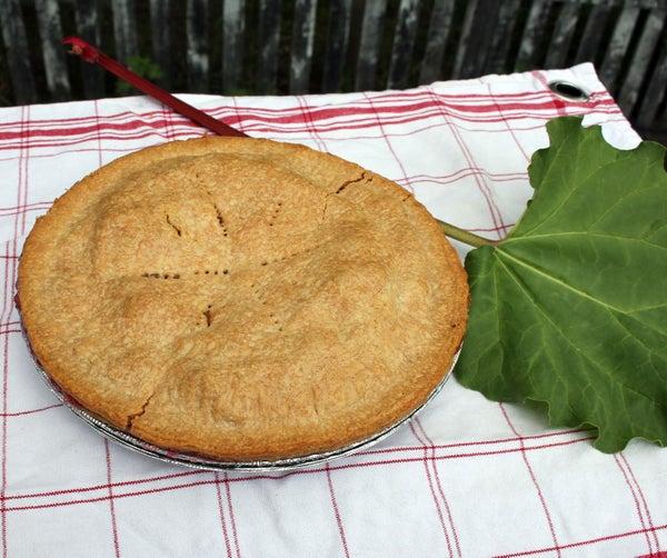 Quick & Easy Backyard Rhubarb Pie